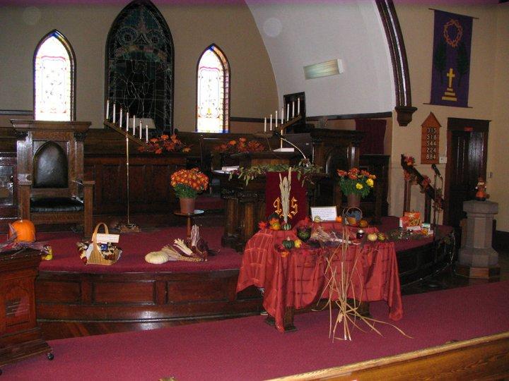 Sanctuary - Harvest decor